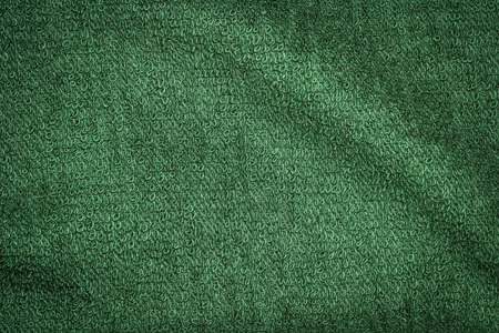 Green cotton bath towels texture or towels background for design with copy space for text or image.