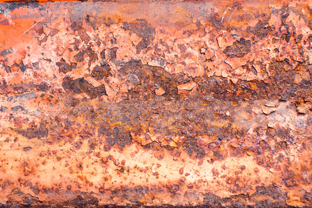 Rusty metal texture, rusty metal background for design with copy space for text or image. Rusty metal is caused by moisture in the air. Stock Photo