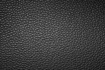 Black leather texture, leather background for design with copy space for text or image. Stock Photo