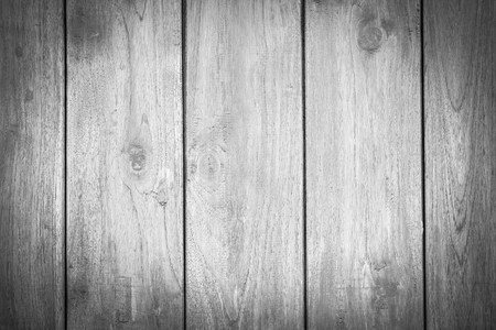 Wood texture, wood background for design with copy space for text or image. Dark edged. Black and white.