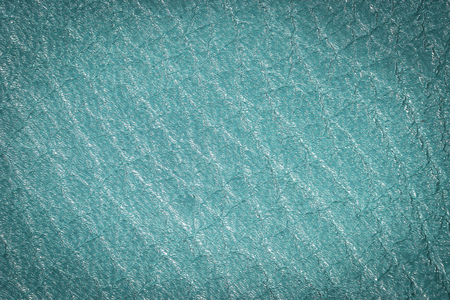 Blue leather texture background for fashion, furniture or interior concept design.