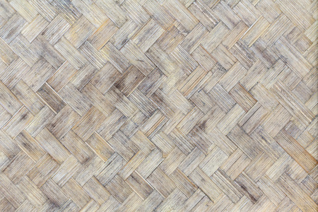 Bamboo weave wood from handmade crafts basket with dirty fungus or mold for interior, exterior and industrial construction concept design. Zdjęcie Seryjne