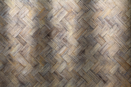 Bamboo weave wood from handmade crafts basket with dirty fungus or mold for interior design business. exterior decoration and industrial construction idea concept.