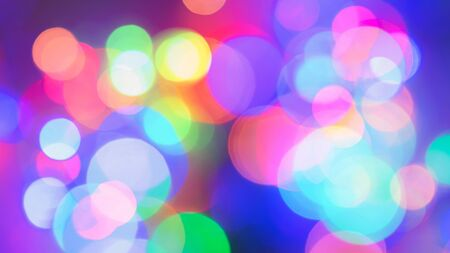 Abstract colorful bokeh background for Christmas xmas, Happy new year 2020, festive, event, happy birthday, celebration, congratulations design. 写真素材