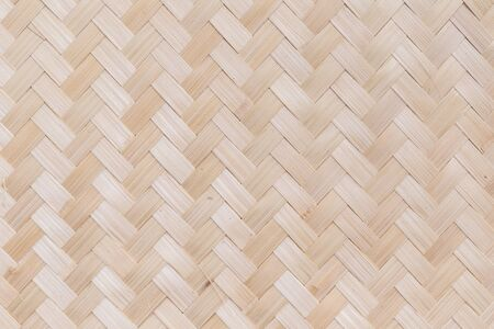 Bamboo weave, Traditional handcraft weave Thai style pattern for furniture material. Stock Photo