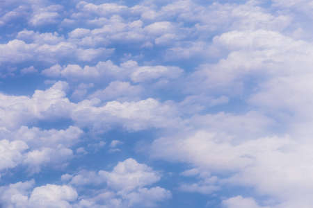 Blue sky background with white clouds on sunny day. Stok Fotoğraf - 160445243