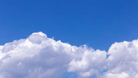Blue sky background with tiny clouds for design Stok Fotoğraf