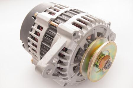 alternator: Alternator for the car on white