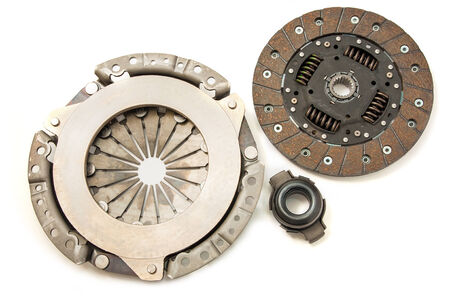 Clutch kit car on a white background Banco de Imagens