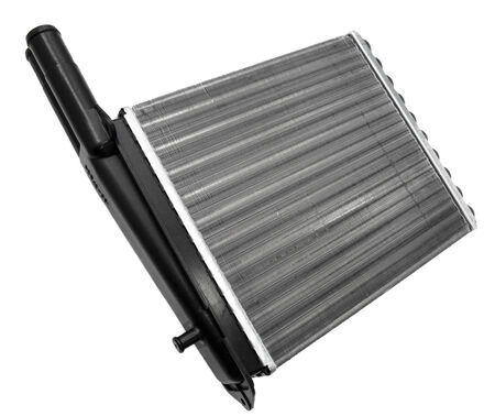 New car radiator on a white background