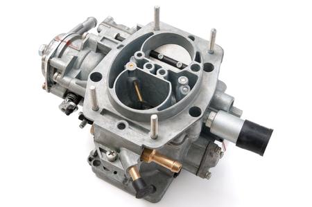 automotive parts: New car carburetor on a white background Stock Photo