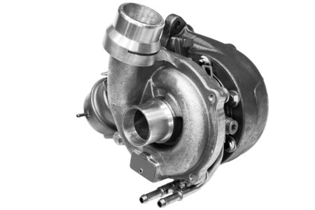 turbocharger from the car on a white background Banco de Imagens