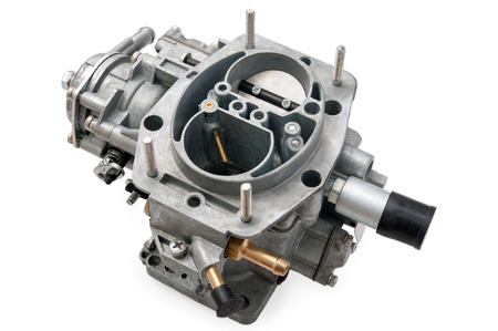 New car carburetor on a white background Banco de Imagens