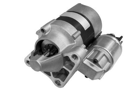 Automotive starter motor and solenoid Banco de Imagens