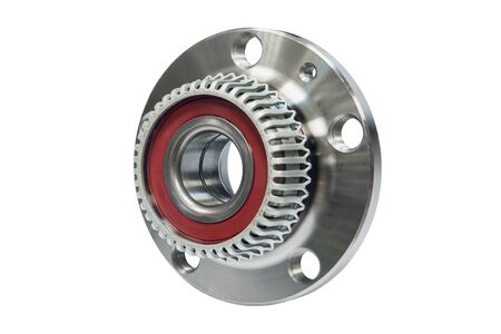 Hub bearing wheel of a car on a white background