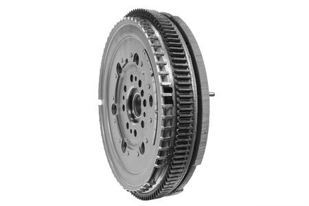 flywheel: new flywheel car isolated on white background