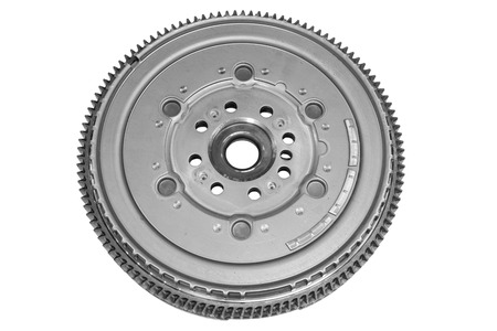 New flywheel car isolated on white background