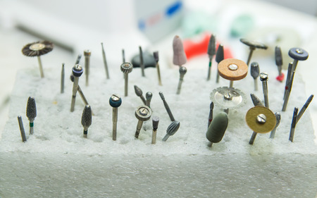 buffing: various tools for jewelry processing of solid objects