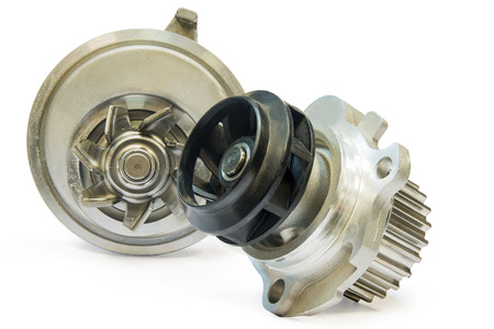 The water pump for cooling the engine of the car on a white background Stock Photo