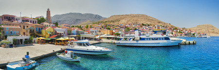 fantastic view: Fantastic view of Symi island in Greece Stock Photo