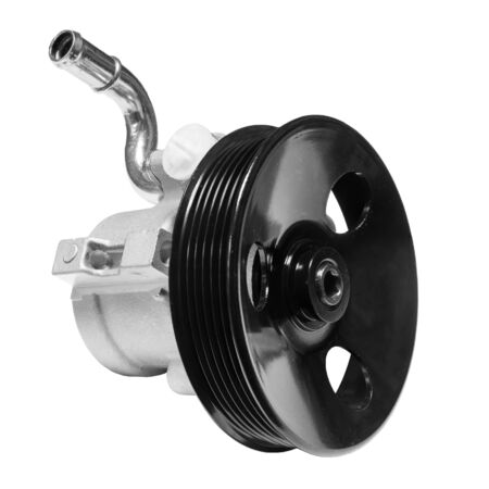 power steering pump on a white background