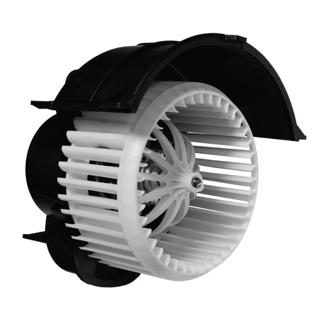 Car heater fan on a white background