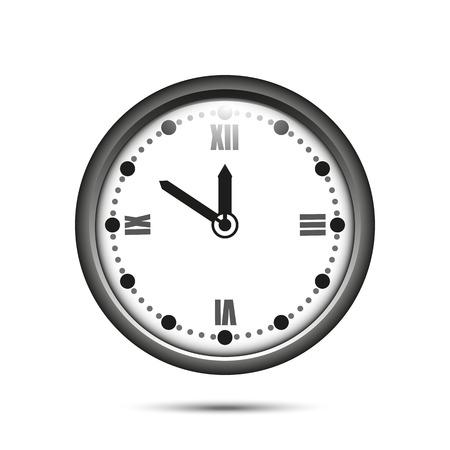 numeros romanos: reloj con n�meros romanos sobre un fondo blanco