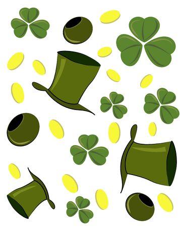 goodluck: St. Patricks Day symbols on a white background