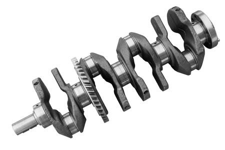 crankshaft: Internal combustion engine crankshaft on a white background Stock Photo