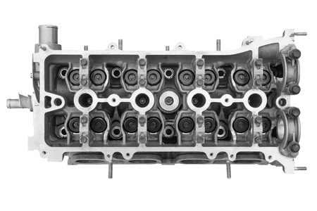 Cylinder head combustion engine isolated on white background Reklamní fotografie - 55161242