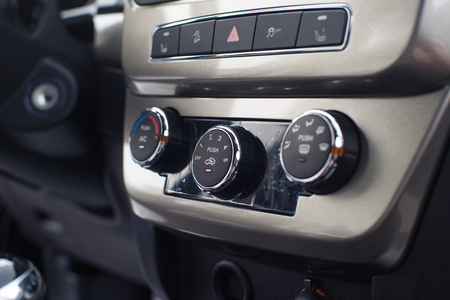 Controls ventilation and air conditioning system of the car interior Stok Fotoğraf