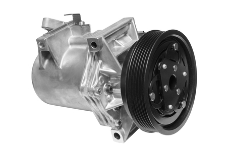 alternator: Air conditionng compressor on a white background