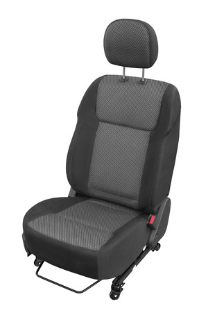 car model: new car seat isolated on white background Stock Photo
