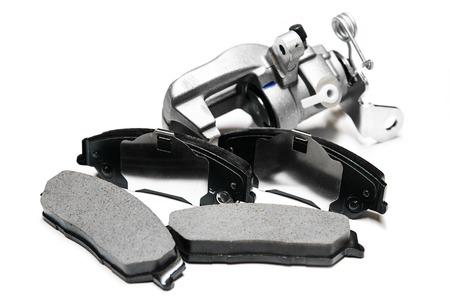 brake pads with shallow depth of field Standard-Bild