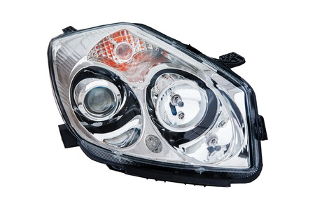 car headlight on white background Imagens