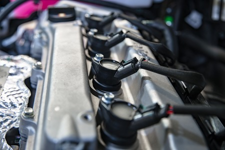 car ignition coils with shallow depth of field Standard-Bild