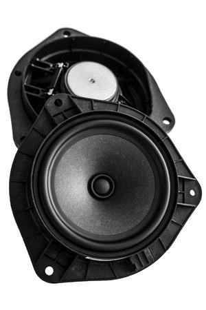 car acoustic speaker isolated on white background Reklamní fotografie