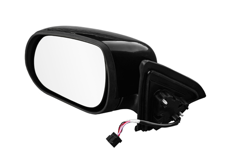 Rear-view mirror on a white background