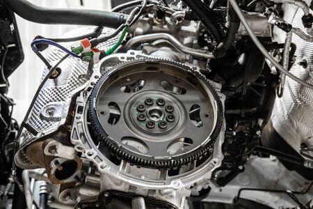 volante para transmisión automática de coche Foto de archivo