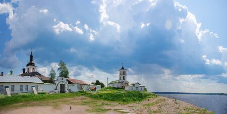 Goritsky monastery on the river bank