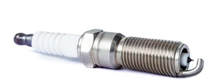 car spark plug with iridium electrode with shallow depth of field Stock Photo