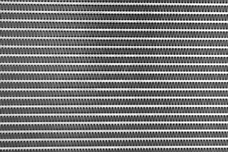 macro shot of part of a new cooling radiator Stock Photo