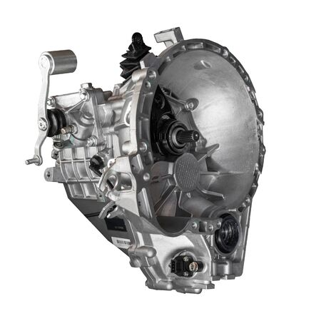 car gearbox on white background