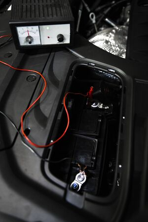 charging the car battery from the charger