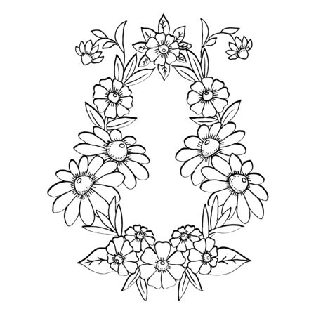 Vector flower pattern with place for your text