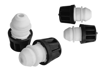Bumper spring from car shock absorber on a white