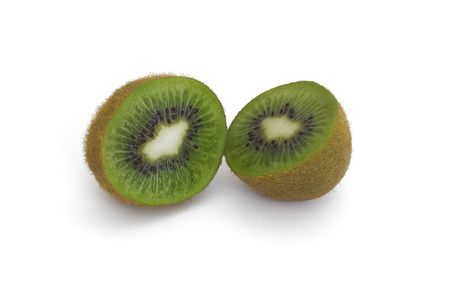 Two halves of kiwi laying Stock Photo - 8148421