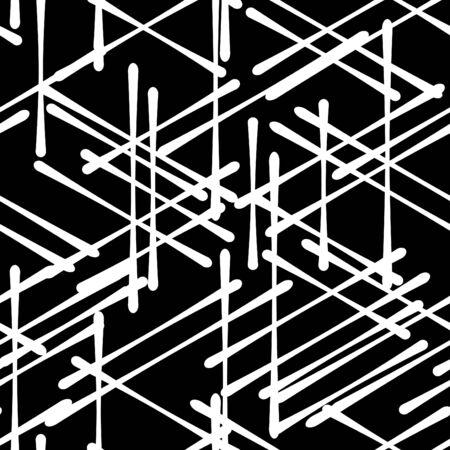 break in: Abstract isometric computer generated 3D blueprint visualization lines background. Vector illustration for break through in technology. Illustration