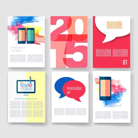 Modèles. Conception Ensemble de Web, Mail, brochures. Mobile, la technologie, et Infographie Concept. Icônes modernes plats et ligne. App UI interface de la maquette. Conception de ux Web.