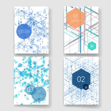 elementos: Plantillas. Diseño Conjunto de Web, Correo, Folletos. Móvil, Tecnología e Infografía Concept. Iconos planos y líneas de estilo moderno. Aplicación UI interfaz maqueta. Diseño ux Web.